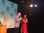 Apple Awards co-hosts Kevin Doyle and Olivia Petzy